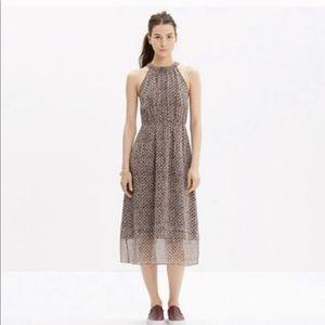 Madewell Silk Dress in Diamond Tile